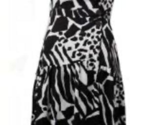 Joseph Ribkoff 211012 Vanilla/Black Dress UK10