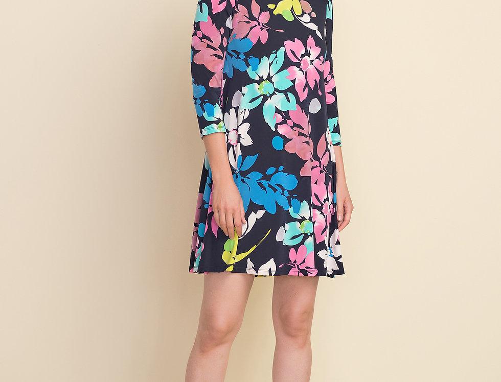 Joseph Ribkoff 212219 Midnight Blue/Multi Dress UK12