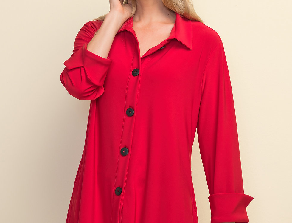 Joseph Ribkoff 211034 Lipstick Red Blouse UK10