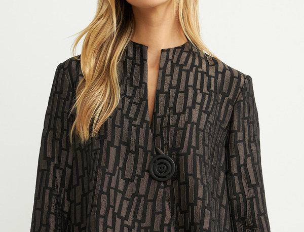 Joseph Ribkoff 204075 Black/Taupe 3/4 Sleeve Jacket UK12