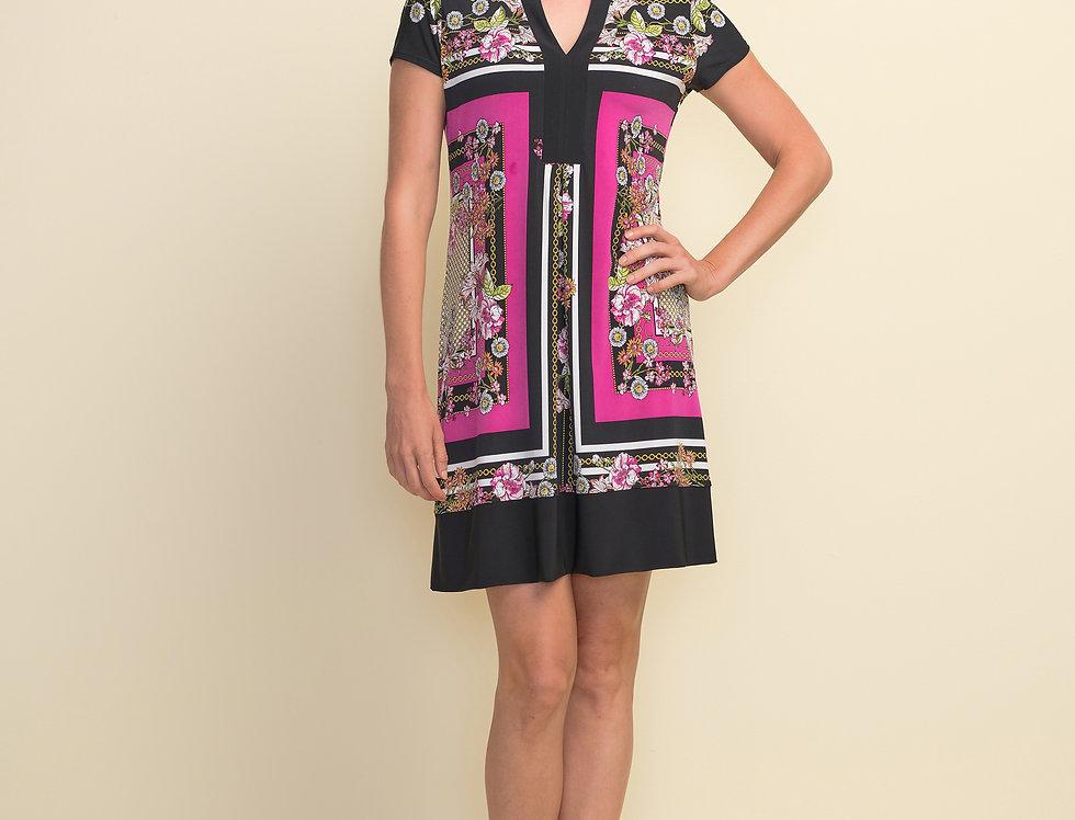 Joseph Ribkoff 211444 Black/Multi Dress UK10