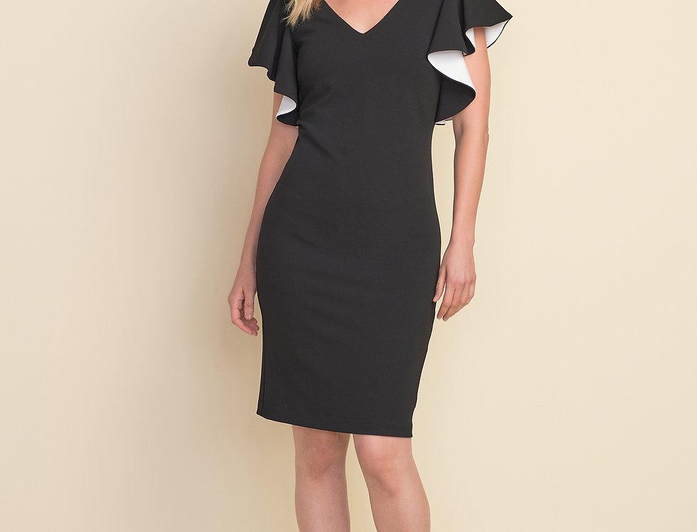 Joseph Ribkoff 212146 Black/Vanilla Dress UK12