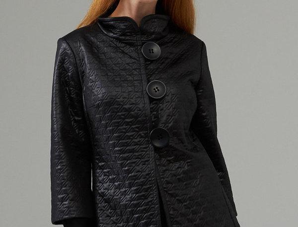 Joseph Ribkoff 203633 Black Faux Leather Jacket UK12