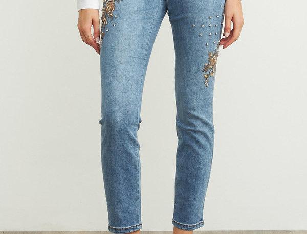 Joseph Ribkoff 203055 Denim Medium Blue Jeans UK10