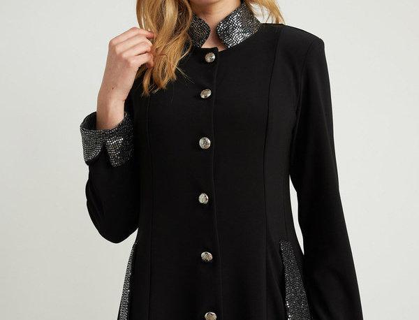 Joseph Ribkoff 204090 Black/Silver Shimmer Detail Jacket UK12