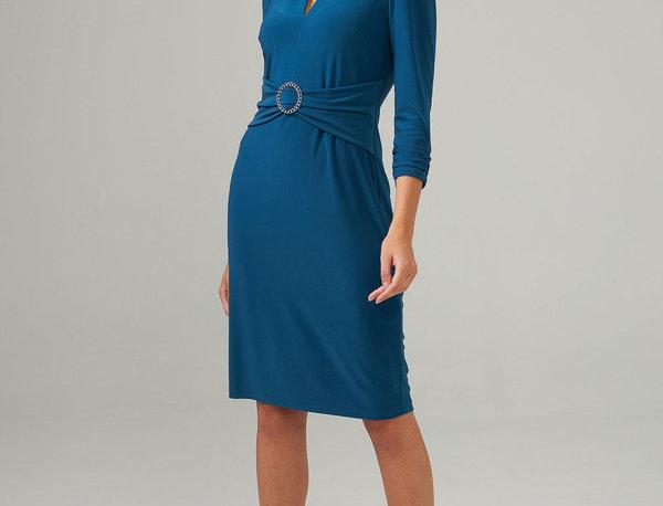 Joseph Ribkoff 203503 Peacock Dress UK12