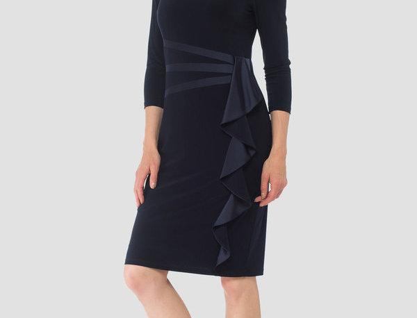 Joseph Ribkoff 184471 Midnight Blue Dress UK14