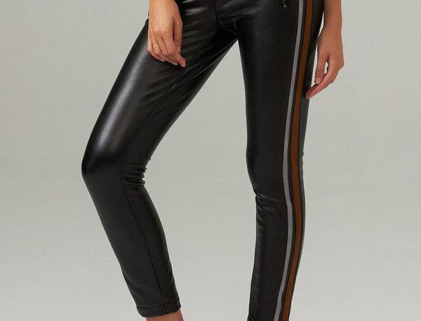 Joseph Ribkoff 203535 Black/Brown/Grey Faux Leather Pant UK12