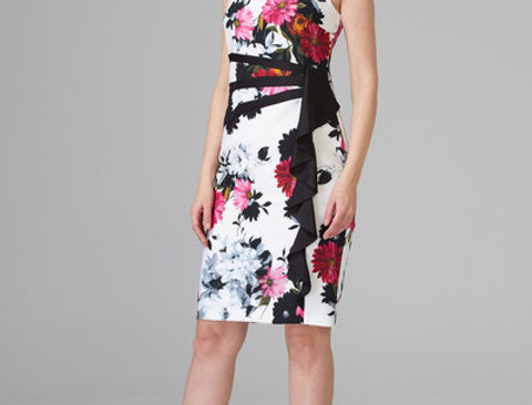 Joseph Ribkoff 201518 White/Multi Dress UK12