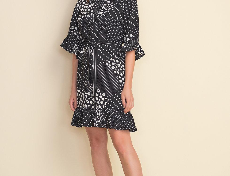 Joseph Ribkoff 212249 Black/White Dress UK12