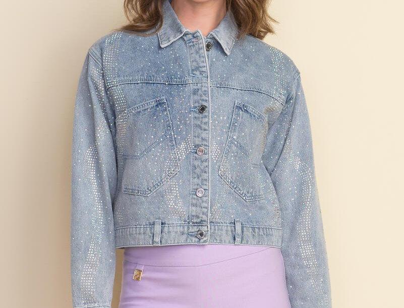 Joseph Ribkoff 212900 Vintage Blue Denim Jacket M