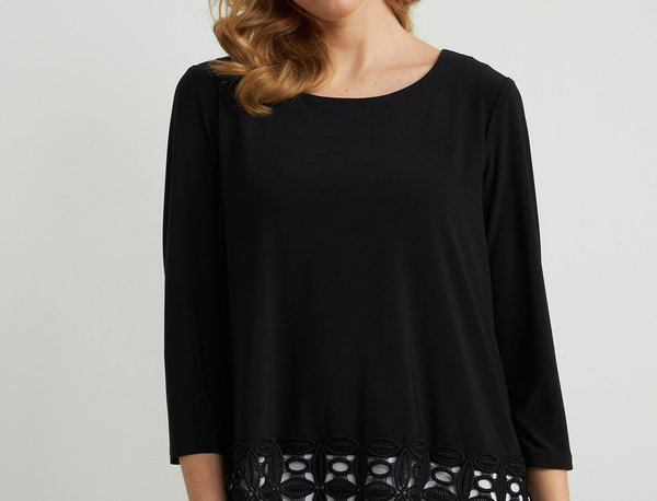 Joseph Ribkoff 212110 Black/Off-White Top UK10