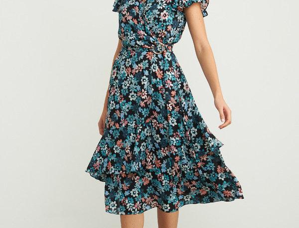 Joseph Ribkoff 203494 Black/Multi Floral Dress UK12