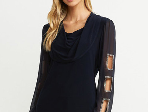 Joseph Ribkoff 203481 Midnight Blue Tunic UK10