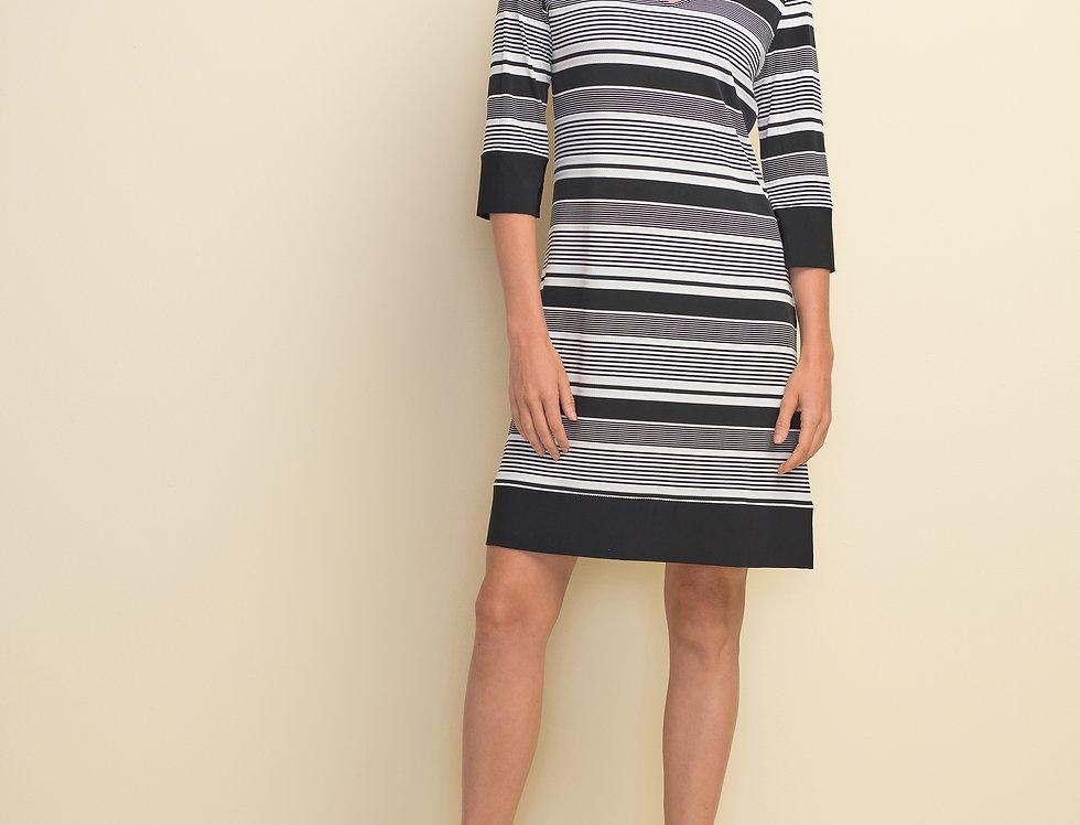 Joseph Ribkoff 211199 Black/White Dress UK10