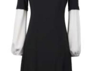 Joseph Ribkoff 211065 Black/Off-White Dress UK10