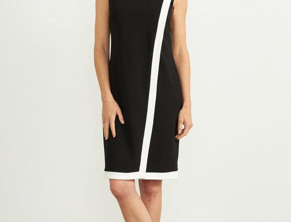 Joseph Ribkoff 203146 Black/Vanilla Dress UK12