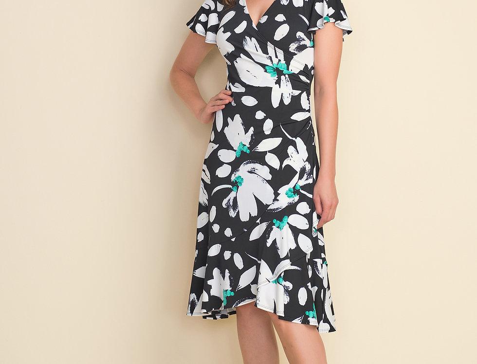 Joseph Ribkoff 212164 Black/Multi Dress UK12