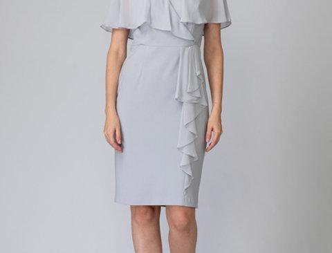Joseph Ribkoff 201072 Grey Frost Dress UK12