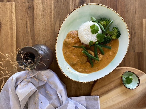 Lamb Korma Rice and Steamed Vege