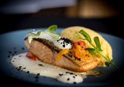 Salmon and Polenta