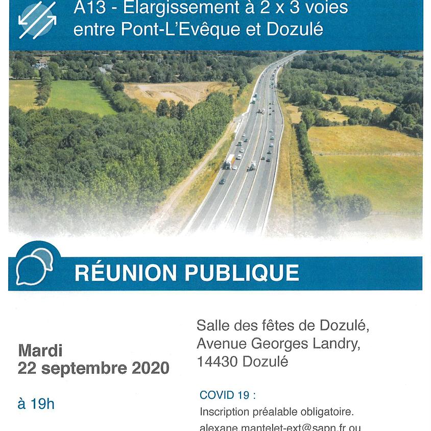 Réunion publique - Elargissement autoroute - A13 SAPN