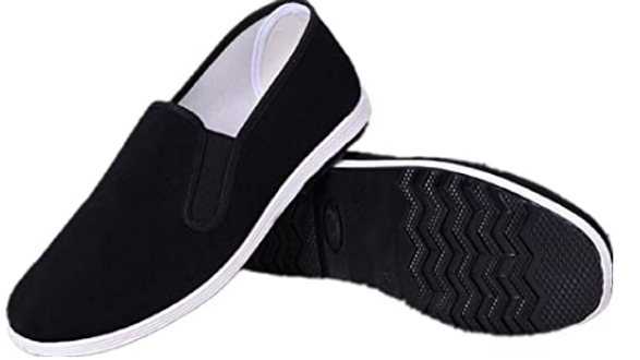 APIKA Chinese Traditional Old Beijing Shoes Kung Fu Tai Chi Shoes Rubber Sole Un