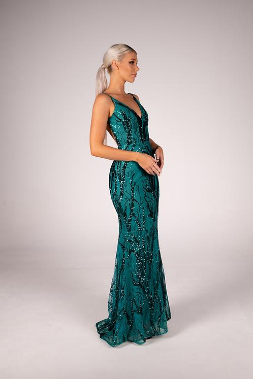 Pandora Gown Emerald