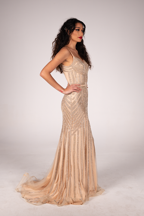Lourna Gown Rose Gold