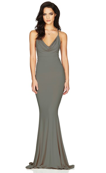 Nookie Hustle Gown - Olive