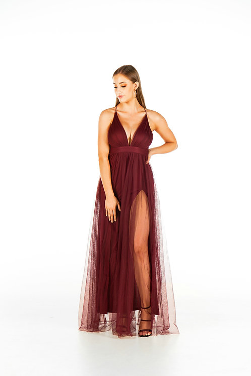 Ollie Gown Burgundy