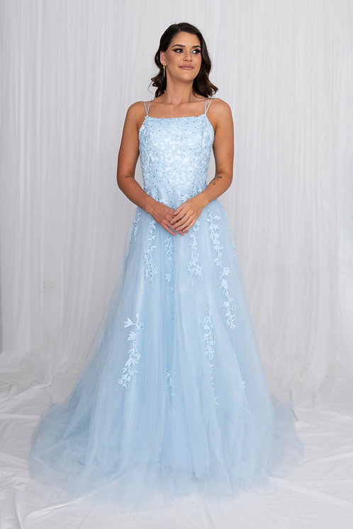 Flynn Gown Baby Blue