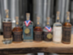 Bottle Lineup In Distillery Awards and R