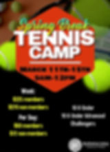 Copy of Tennis Camp Flyer Template - Mad