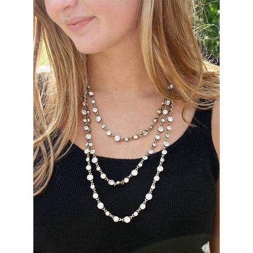 Three Tier Crystal Necklace