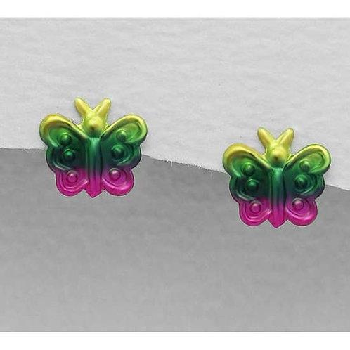 Girls Butterfly Earrings. Sterling Silver