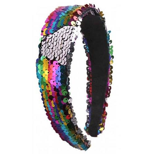 Multi Colored Sequin Headband