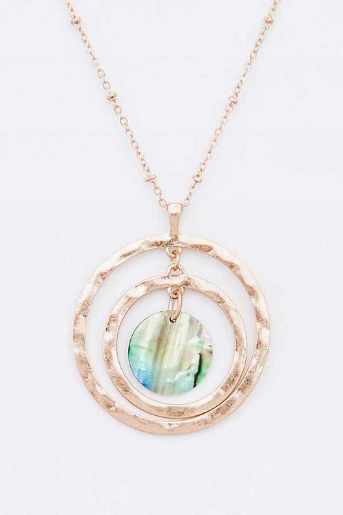 Gold with Abalone Shell
