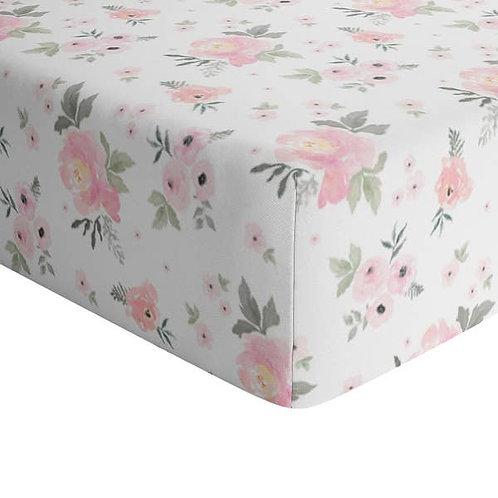 Floral Crib Sheet