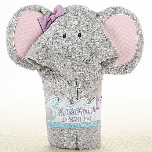 Splish Splash Elephant Bath Spa Hooded Towel