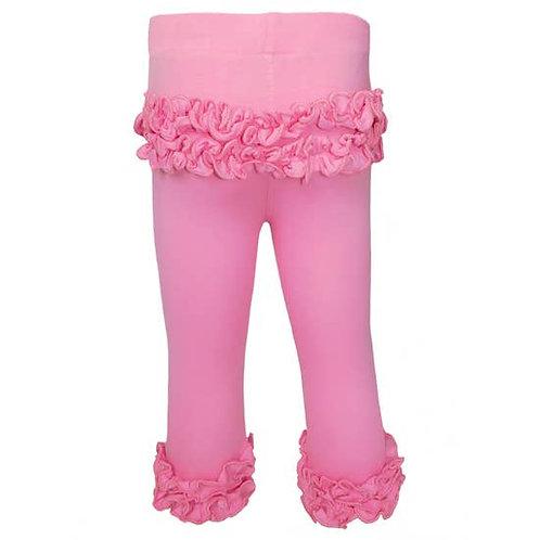 Girls Pink Ruffle Butt Leggings