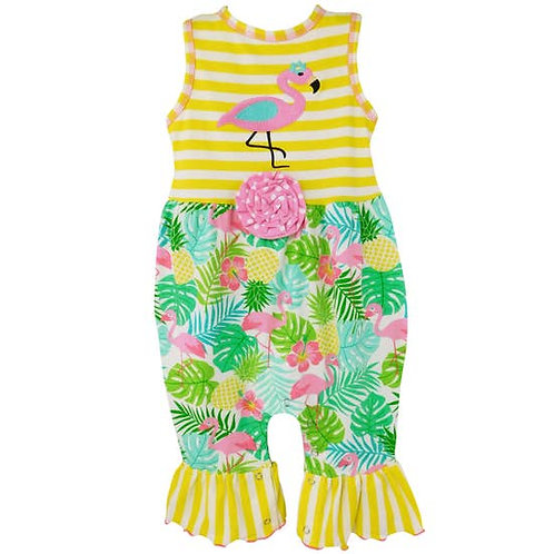 Baby Girls Tropical Flamingo Romper