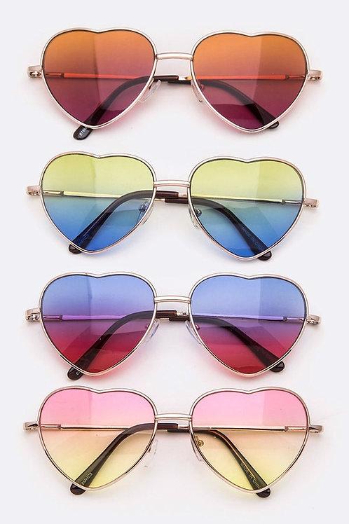 Heart Ocean Lens Sunglasses Youth