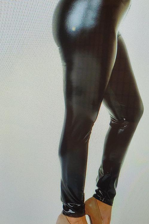Shiny Metallic Leggings - Size Medium