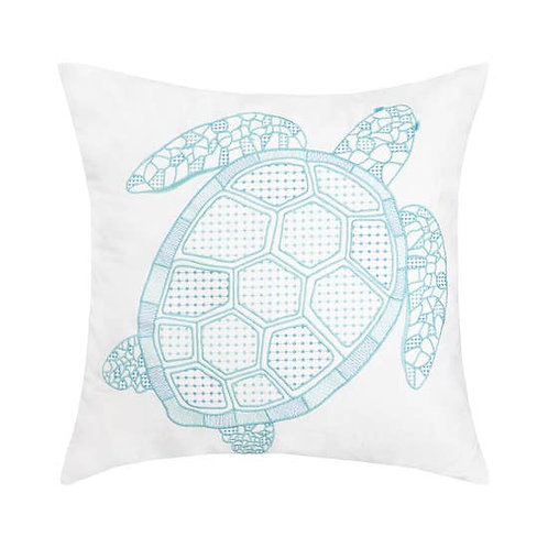 Turtle Indoor/Outdoor 18 x 18 Embroidered Pillow