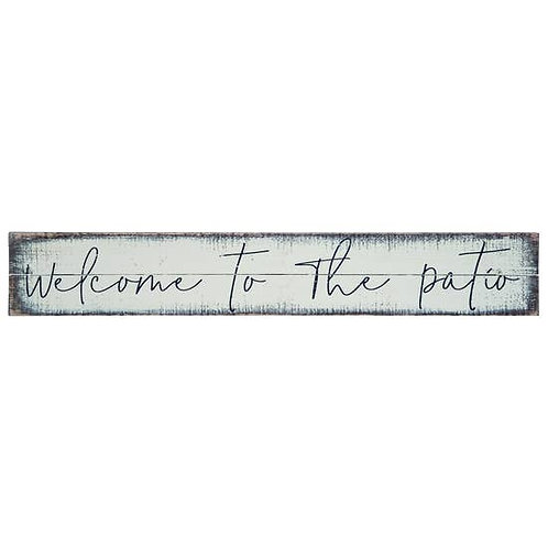 Welcome to the Patio decor sign