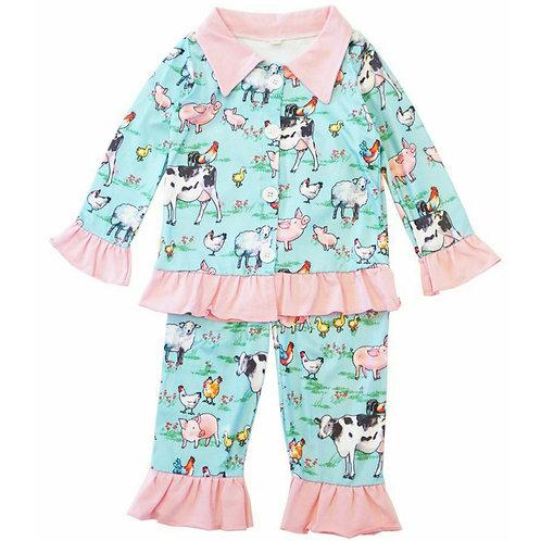 Sweet Farm Animal Pajamas