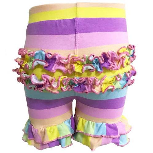Rainbow Ruffle Shorts 2/3T