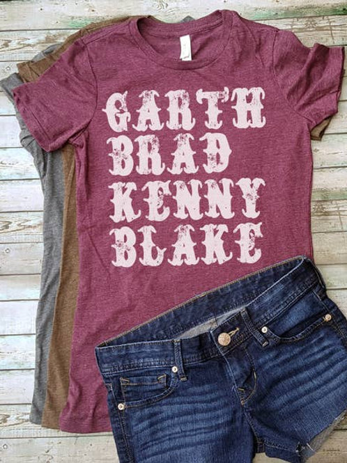 Garth, Brad, Kenny, Blake T-shirt