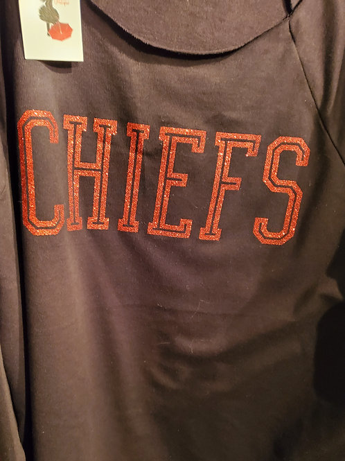 Off the shoulder Kansas City Chiefs (OR any team) Sweatshirt